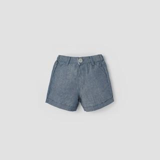 Quần short Oxford BAA BABY lật lai màu xanh denim cho bé trai - BT-QU09N-002XD thumbnail