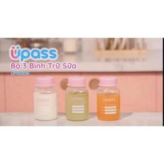Bộ 3 bình trữ sữa upass 125ml - Thái Lan UP0030 UP1010 thumbnail