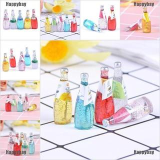 Happybay 5Pcs 1/12 Miniature food mini fruit drink model for dollhouse kitchen toys