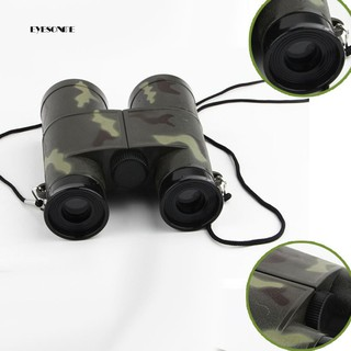 ♕4X Magnification 30mm Objective Colorful Kids Child Mini Compass Binoculars Toy