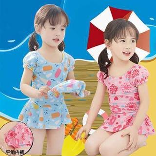 Bộ đồ bơi liền thân dễ thương cho bé gái