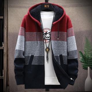 Áo khoác hoodie lót nhung thời trang thu đông cho nam