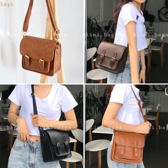 Túi Đeo Chéo Nữ Vintage Da (BEST SELLER) Stu Bags - Ulzzang Limi bags