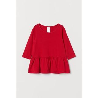Váy dài tay đỏ HM H&M_hàng chính hãng authentic