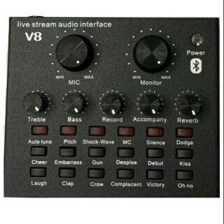 Sound card V8 bluetooth autotune thế hệ mới BH 6 tháng đổi mới