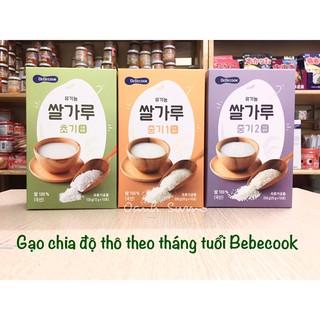 Gạo Bebecook Hữu cơ chia độ thô theo tháng tuổi Hàn Quốc thumbnail