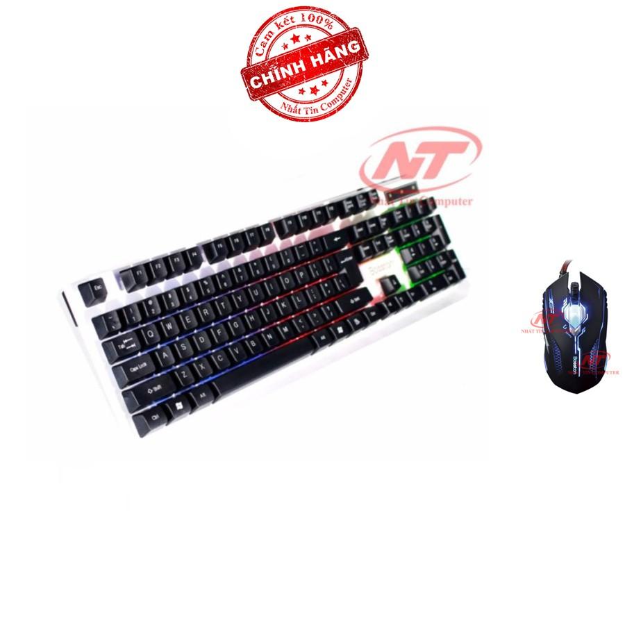 Bộ bàn phím giả cơ và chuột chuyên game Bosston G808 - X11 (Đen)