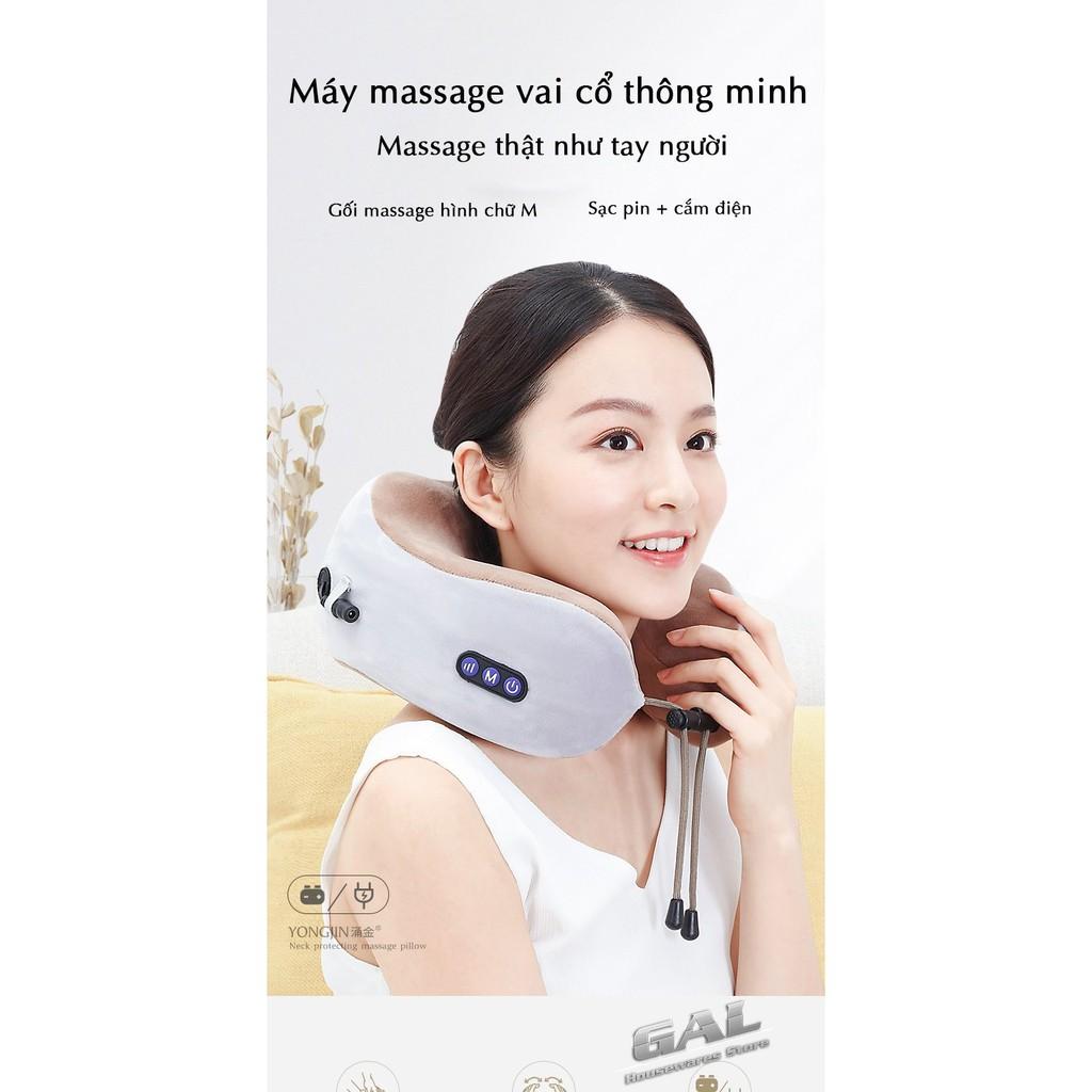 Gối massage cổ vai gáy U-shaped  [Chuyên dụng cho dân VP]