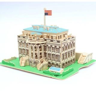 Đồ chơi lắp ráp gỗ 3D Mô hình Nhà Trắng