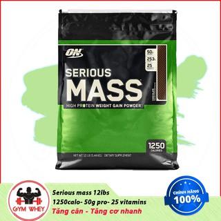 [Freeship + Quà] Sữa Tăng Cân Tăng Cơ Serious Mass 12lbs – On Authentic 100%