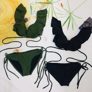 Bikini 2 mảnh bèo vai – XANH RÊU