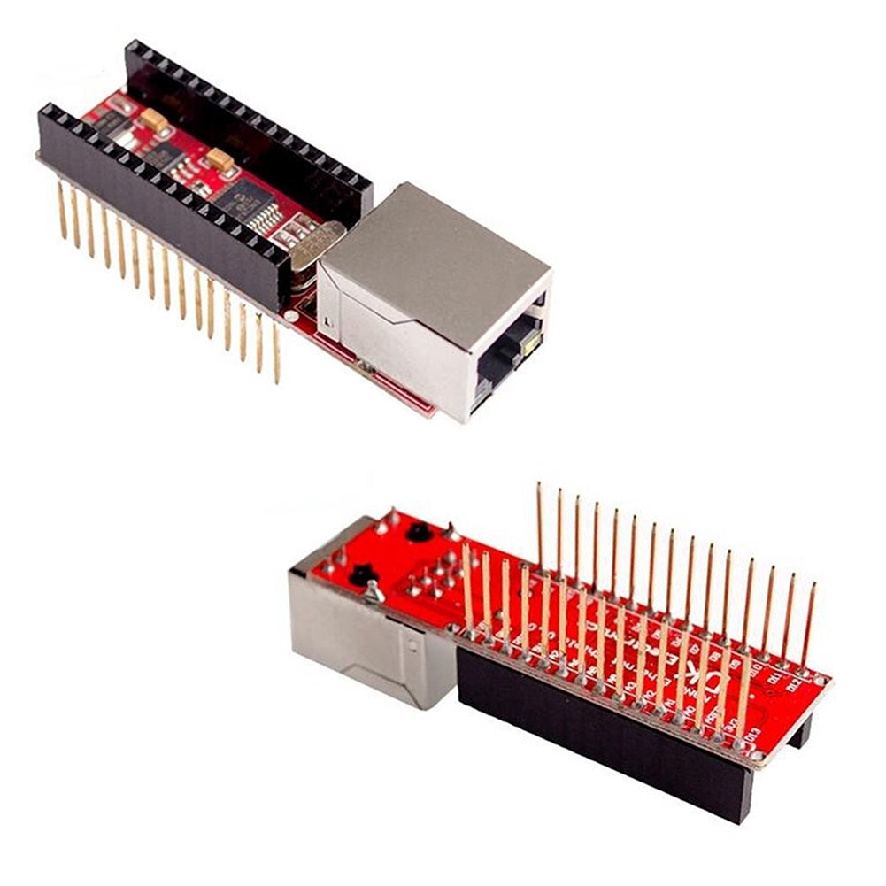 Web Component Accessories Ethernet Shield Network Module Server ENC28J60 Computer No Soldering Durable For Arduino Giá chỉ 106.000₫