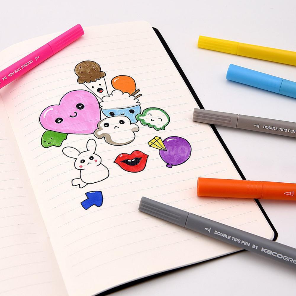 AIDO♦Xiaomi KACO 36 Colors Watercolor Pens Double Tip Watercolor Pens Painting Graffiti Art Markers