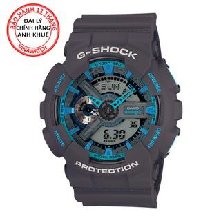 Đồng hồ Nam G-Shock Casio dây nhựa kim-điện tử GA-110TS-8A2DR - Chính hãng Casio Anh Khuê thumbnail