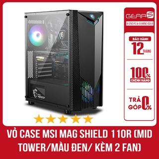 Vỏ Case MSI MAG SHIELD 110R (Mid Tower Màu Đen Kèm 2 Fan ) thumbnail