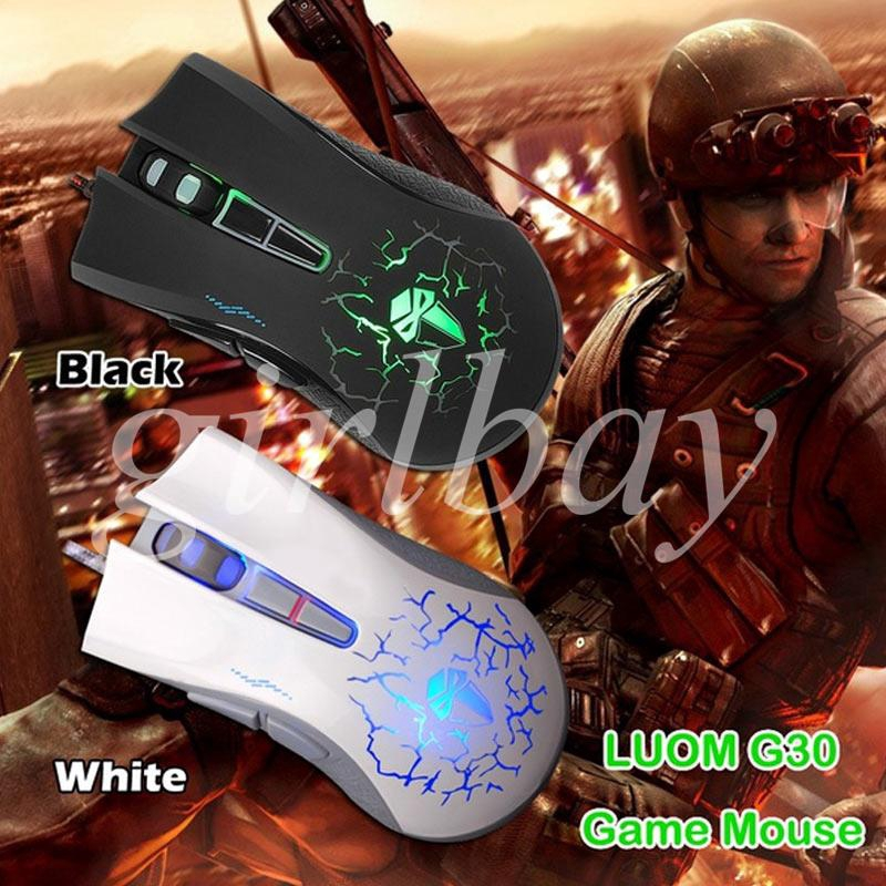 King USB Wired Mouse Optical Mice Gaming Control Fashion Colorful Portable Cool 4000dpi