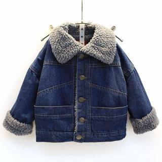 Áo khoác lông cừu trẻ em nam nữ, thời trang 2018 M1076090