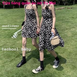 chân váyĐầm hoa có dây của phụ nữ mùa hè mới 2021 váy bạn gái nhỏ kiểu Pháp mối tình đầu trong triều