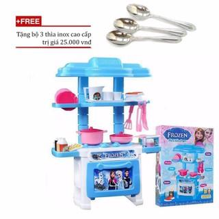 Bộ đồ chơi nấu ăn nhu that VeGa365/Bộ đồ chơi nhà bếp giá rẻ+ Tặng bộ 3 thìa inox cao cấp[Tmarkvn]