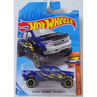 Xe mô hình Hot Wheels '19 Chevrolet Silverado Trail Boss LT FYC56