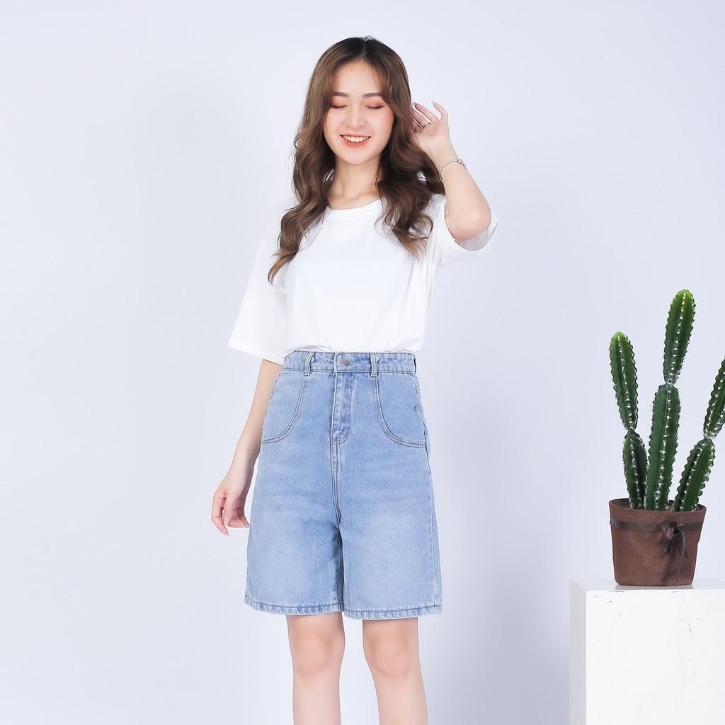 Quần Short jean nữ chất bò trơn mềm xinh xắn - 4BASIC 001