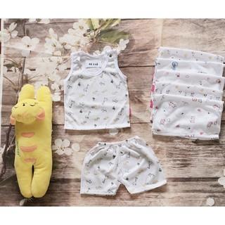 Combo 5 bộ áo ba lỗ hoạ tiết hình cho bé trai-bé gái-combo sơ sinh