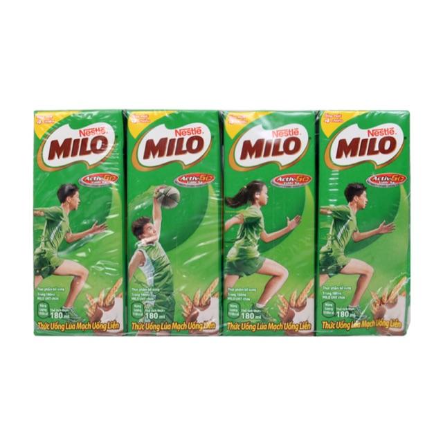 Sữa milo 1 thùng 48h 180ml - tặng đồng hồ cho bé