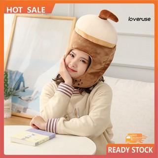 Mũ Trùm Đầu Che Tai Hình Ly Trà Sữa Độc Đáo