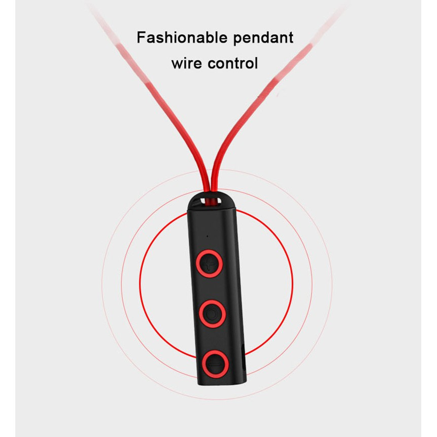 Tai nghe bluetooth thể thao có dây đeo cổ M10 thời trang kèm cáp USB