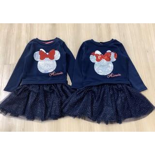 Váy nỉ Mickey phối chân ren siêu xinh cho bé 2-8tuổi