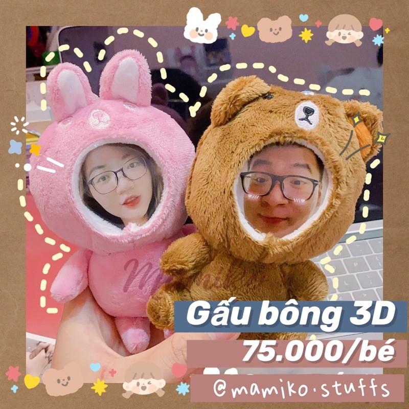 Gấu Bông In Ảnh 3D Theo Yêu Cầu