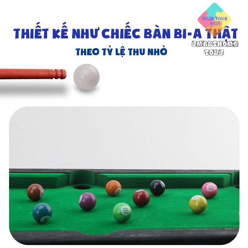 Bàn Bi A Mini – Bàn Bida Mini Cỡ Lớn 55x33x15cm Cho Bé Nhiều Kích Cỡ, Đầy Đủ Phụ Kiện - SmartHome Toys