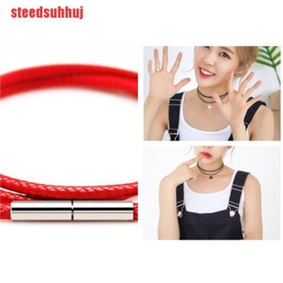 (TTY-COD)1pcs Necklace Cord Leather Cord Wax Rope Chain With Stainless Steel Clasp