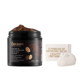 Combo cà phê Đăk lăk làm sạch da chết Cocoon 200ml+Xà phòng Khuynh Diệp & Bạc Hà Cocoon45g thumbnail