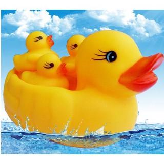 Đồ chơi tắm cho trẻ em, vịt nhỏ màu vàng, véo, vịt, em bé, nước, 0-10 tuổi, em b