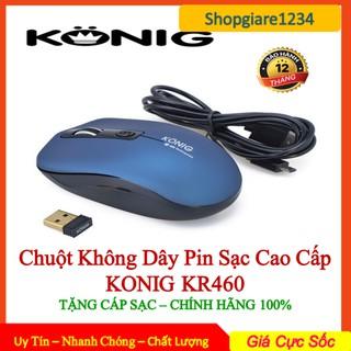 Chuột Không Dây Pin Sạc Konig KR460 (KHÔNG TIẾNG CLICK) - Bảo Hành 12 Tháng 1 Đổi 1 thumbnail