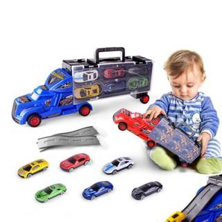 Bộ đồ chơi mô hình container vận chuyển 6 xe ô tô con