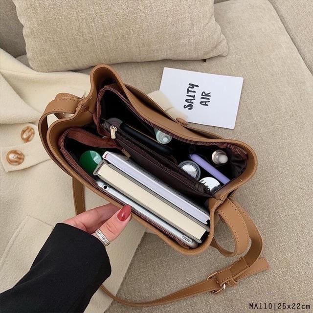 Túi xách da nữ khuy cài form cổ điển thời trang giá rẻ