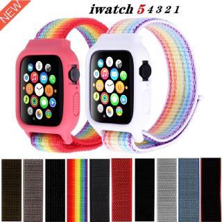 Dây Đeo Bằng Nylon Cho Đồng Hồ Thông Minh Apple Watch 38mm 42mm 40mm 44mm Series 5 4 3 2 1