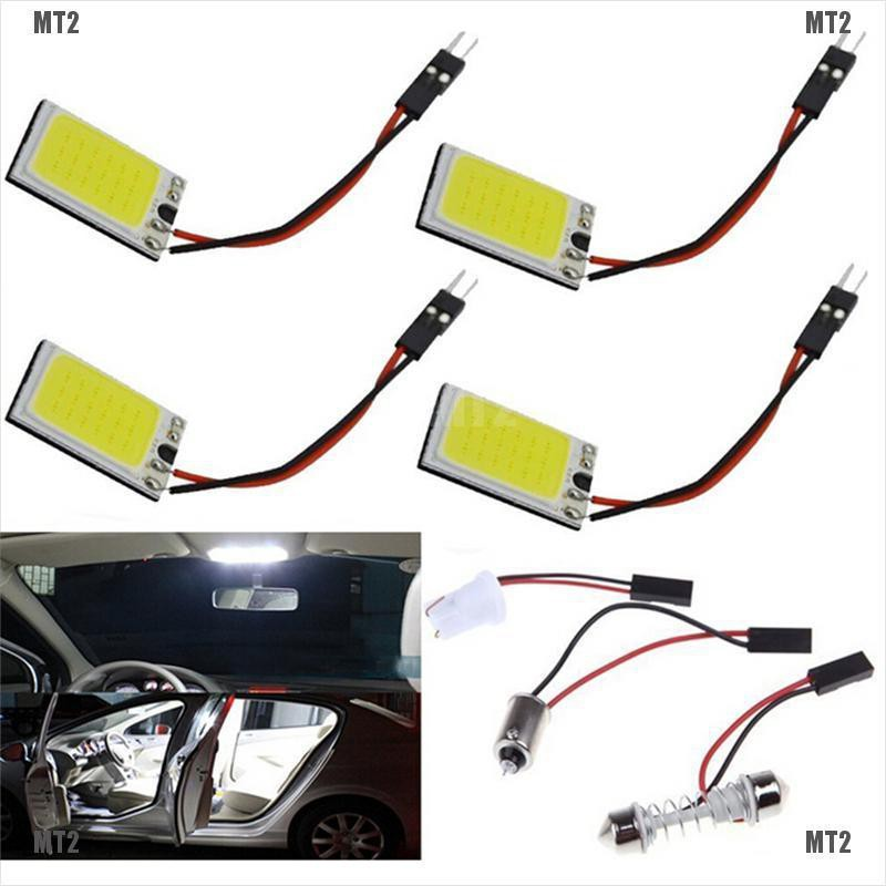 [MT2&TH]1pc 18-LED COB Car Interior Dome Plate Lights White Bulb BA9S T10 Festoon 12V