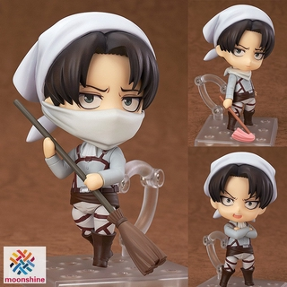 ❤PG❤ Attack on Titan Levi Ackerman PVC Figure Changeable Face Cute Anime Action Figure Model Toy