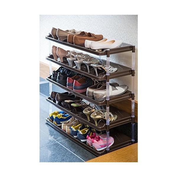 Kệ để giày 5 tầng màu nâu-Hàng sản xuất tại Nhật