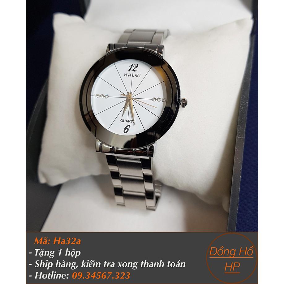 Đồng hồ nam Halei dây bạc