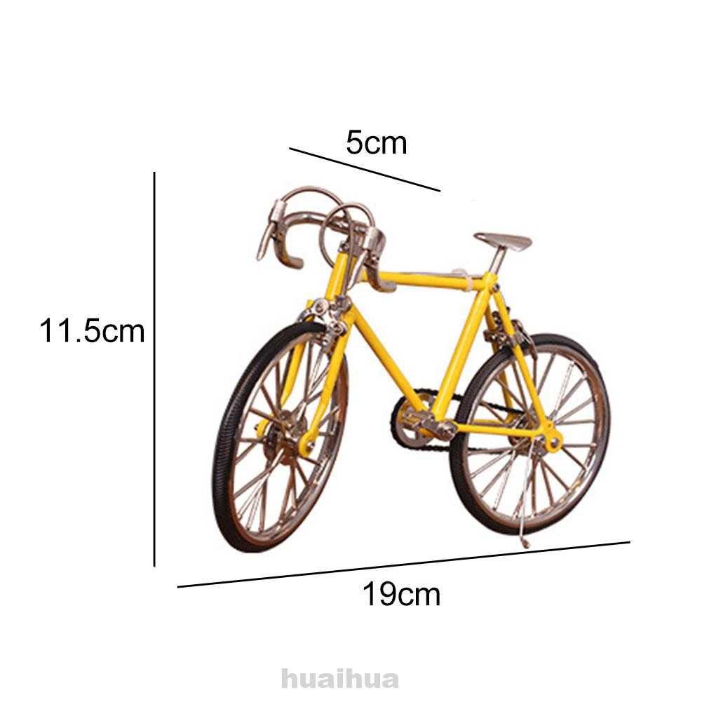 1:10 Collections Office DIY Alloy Gift Home Simulation Ornament Bicycle Model