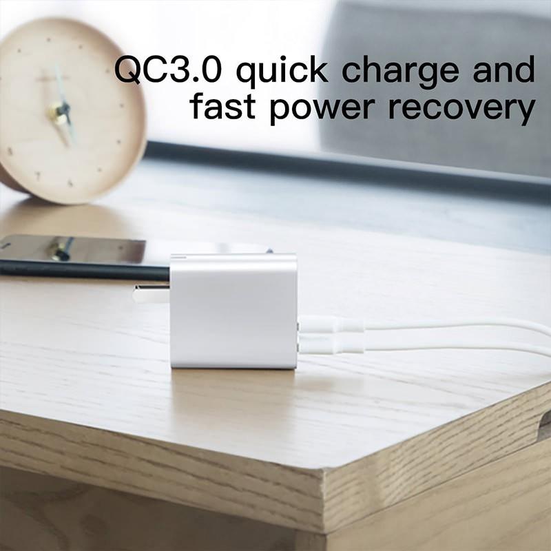Ổ sạc tốc độ nhanh PPS C+U 30W có dây cáp dài 1M
