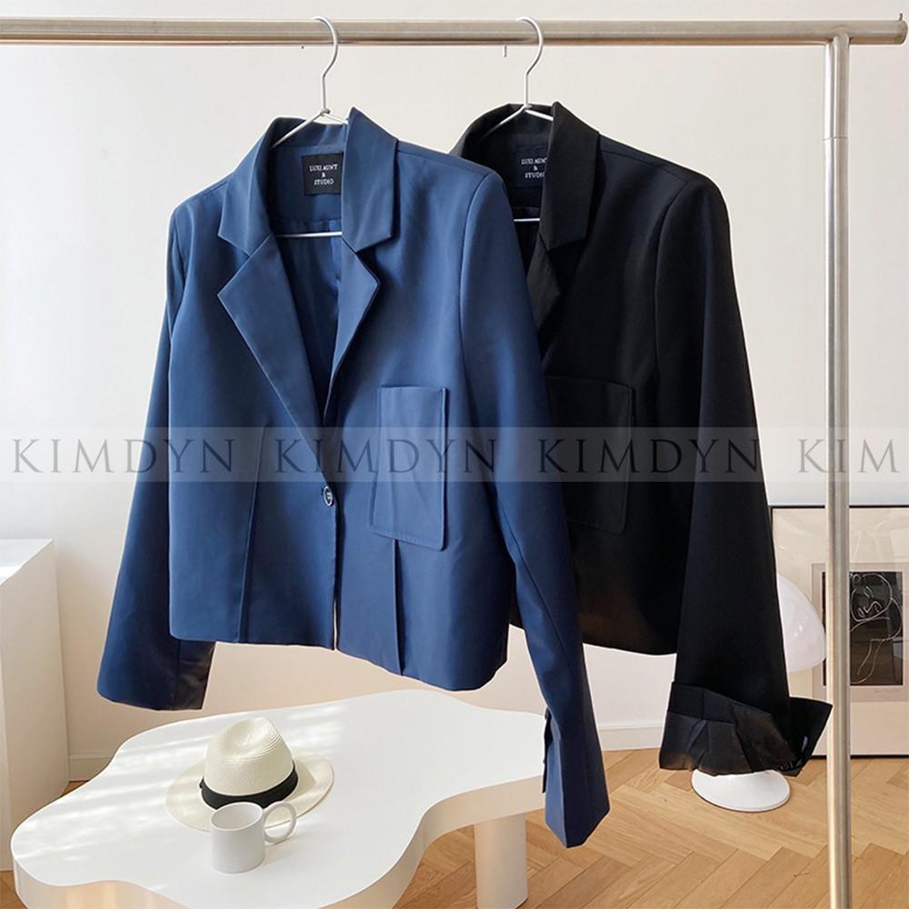 Áo blazer nữ áo khoác ngắn sang trọng KimDyn [KDBL07]