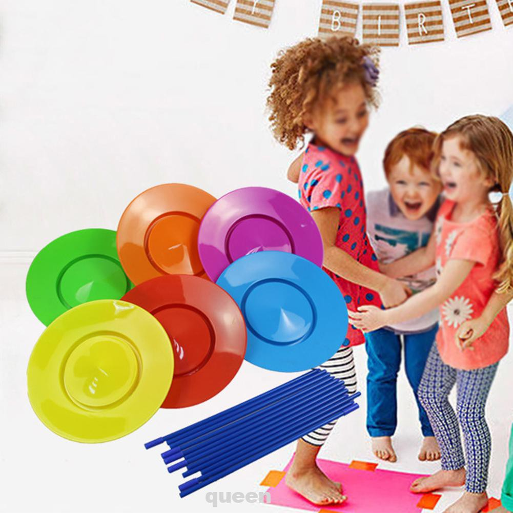 18pcs Boy Girl Circus Performance Juggling Skill Entertainment Stage Toy Spinning Plate Set