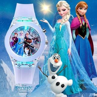 Đồng Hồ Có Đèn Led Phong Cách Công Chúa Elsa Cho Bé thumbnail