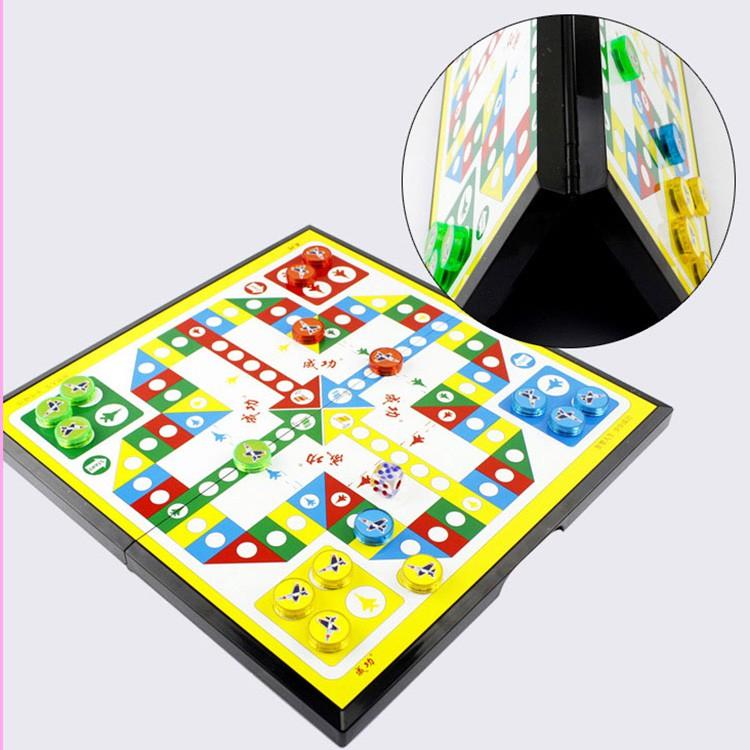 ஐ✽Large flying chess magnetic folding board game portable desktop interactive parent-child toy
