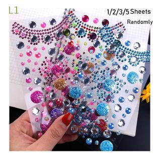 L1 Random 1/2/3/5Sheets Classic Girl Gift Children's toys Acrylic Jewelry Mobile/PC Art Decoration Self Adhesive Sticker